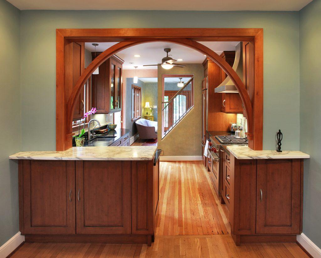 арка с комнаты на кухню фото одновременным