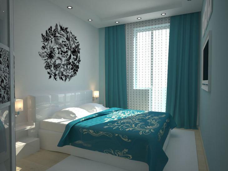 Дизайн спальни с панорамным двумя или тремя окнами 55 фото интерьер комнаты с большим и неровным окном