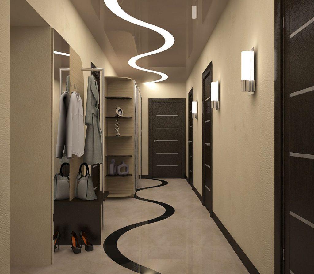Дизайн узкой длинной прихожей в квартире фото