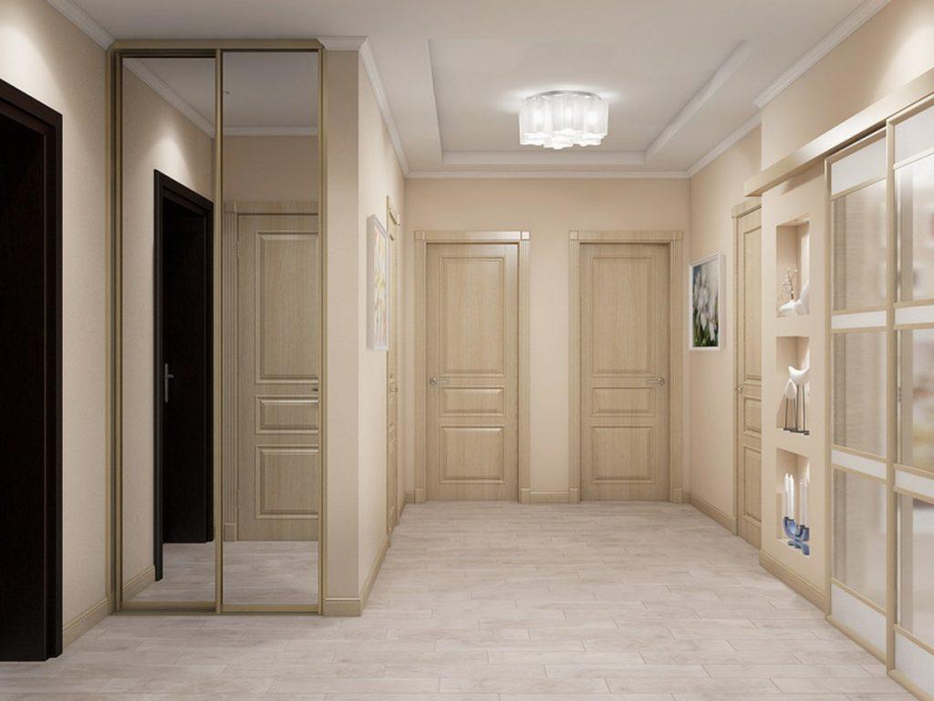 самая фото коридора в квартире со светлым полом самом