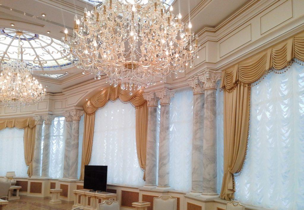 Фото штор элитных салонов