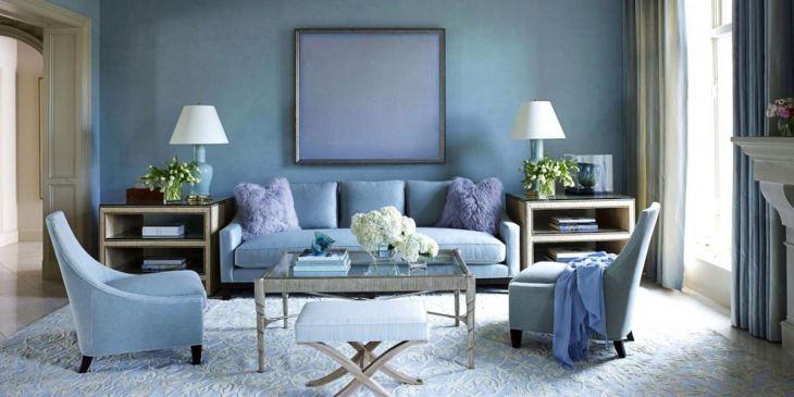 Спальня в голубых тонах — теплый и уютный интерьер для всех   62 фото