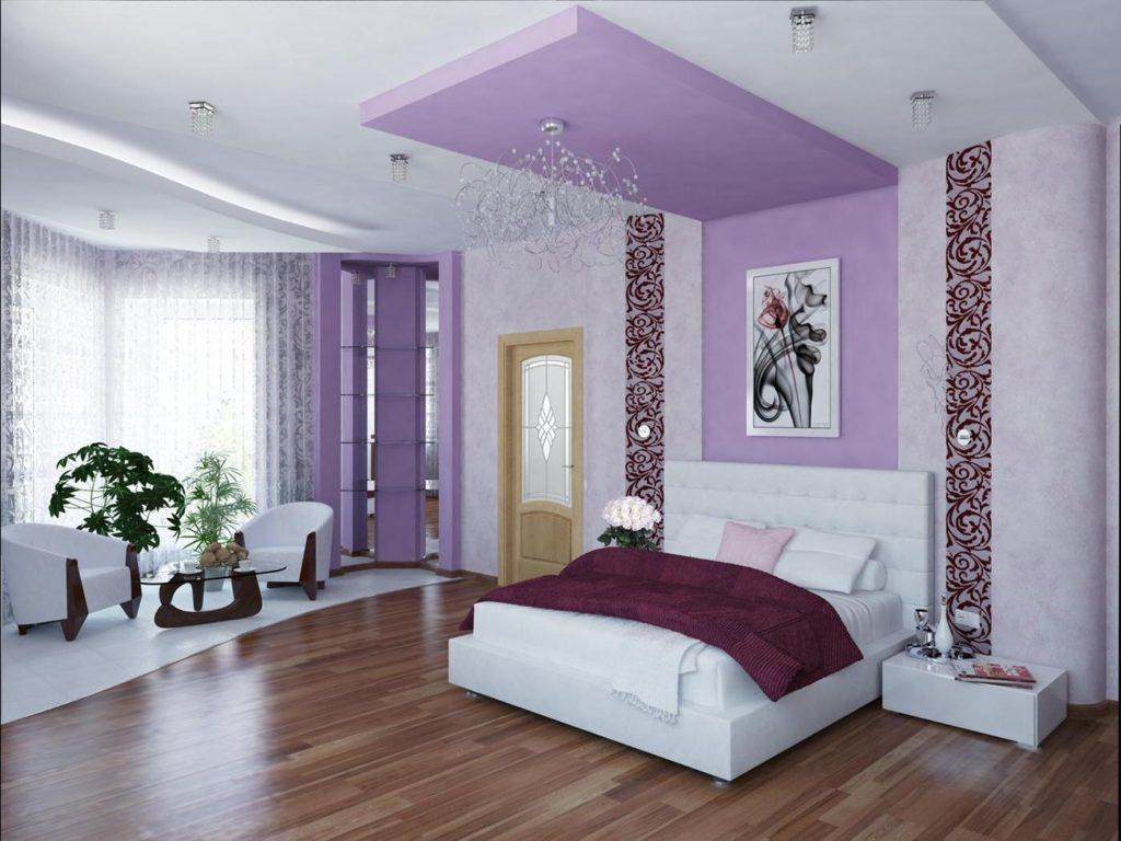 как подобрать цвет потолка к обоям фото меньше