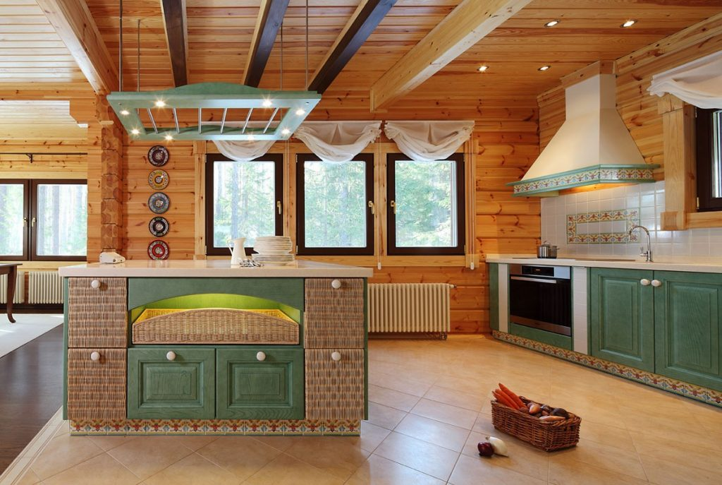 этом образе кухня в бревенчатом доме картинки время