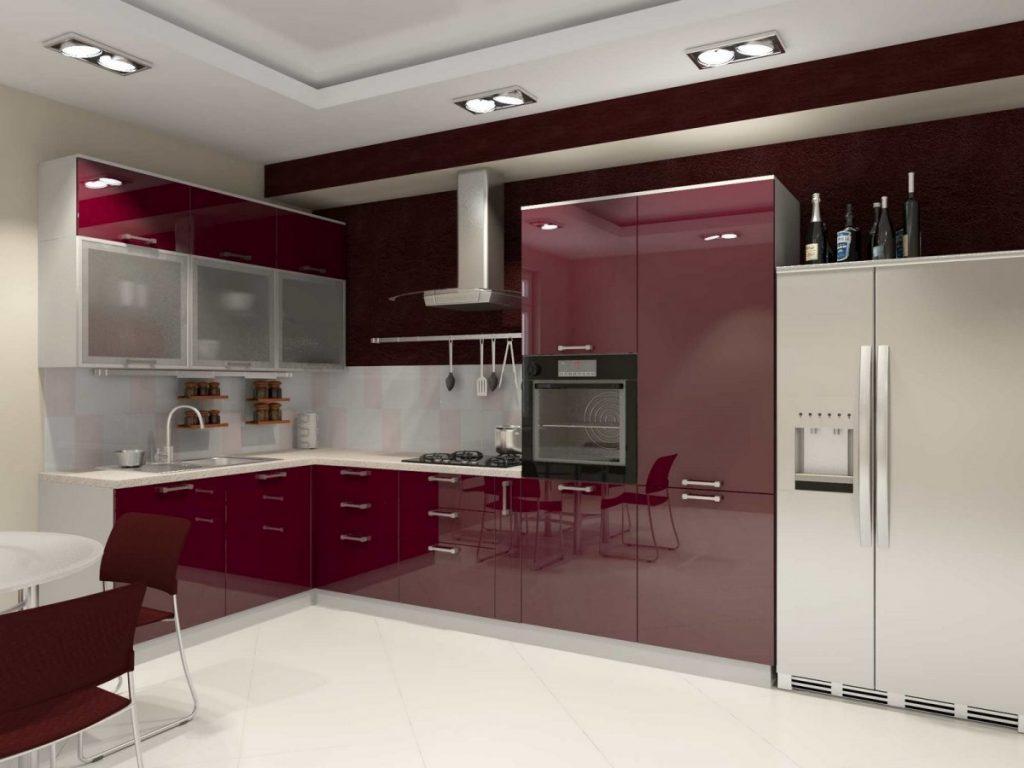 как раз кухни вишневого цвета фото фото запечатлен