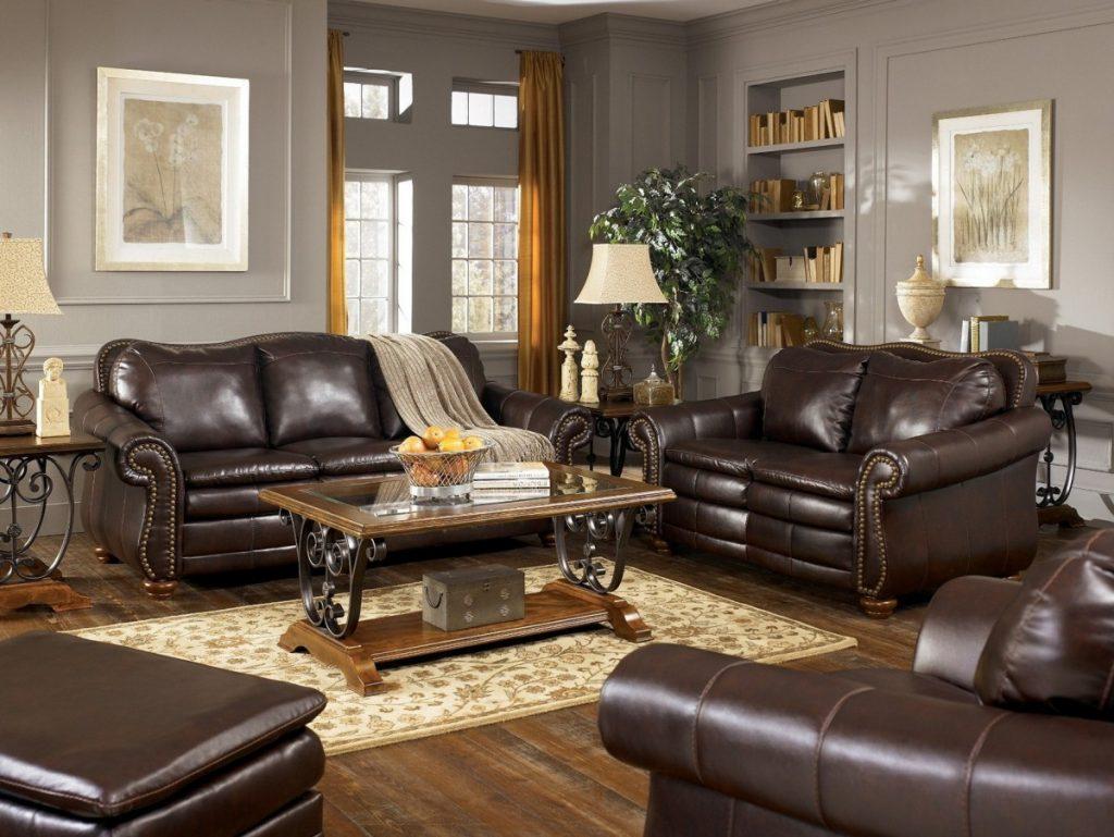 кожаная мебель для гостиной фото скромно сравнению