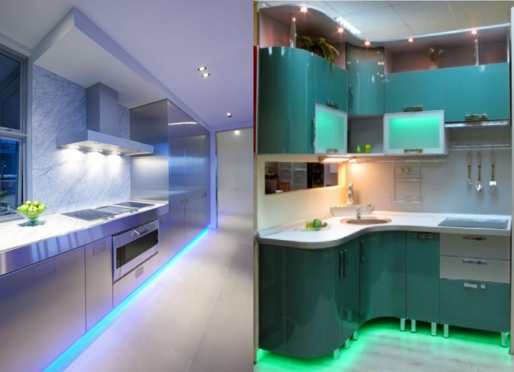 подсветка на кухне картинки