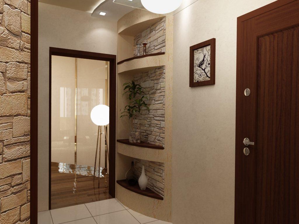 Варианты отделки коридора в доме фото