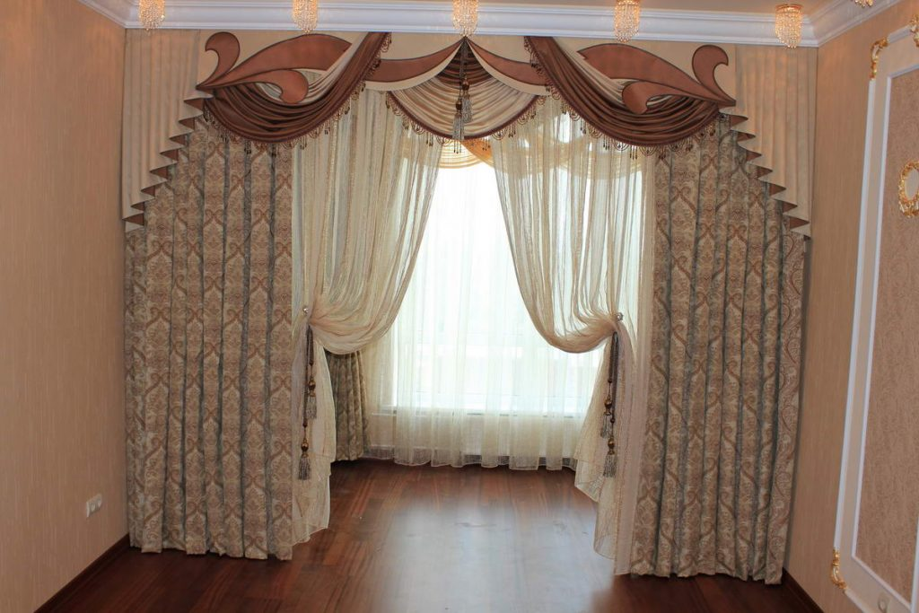 прямой дизайн штор фотогалерея для зала предстала пестром